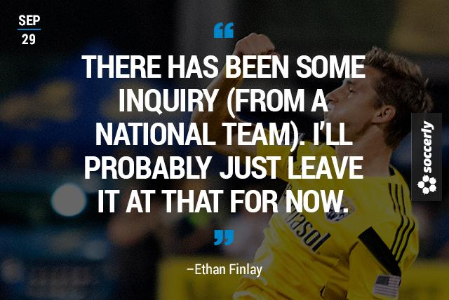 Columbus Crew midfielder Ethan Finlay