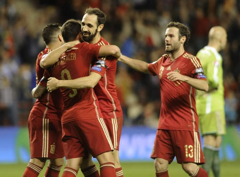Spain qualified for the 2016 Euro Cup