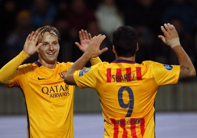 Ivan Rakitic scored two goals to give Barcelona the win against BATE Borisov