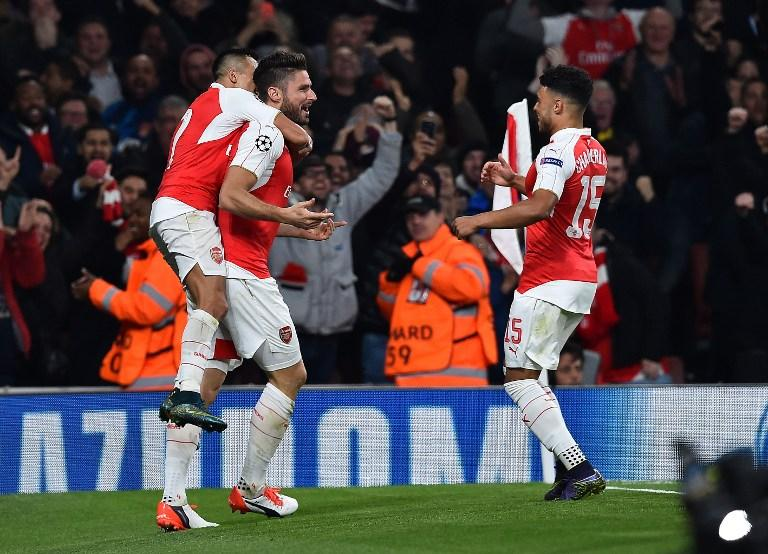 Arsenal win 2-0 against Bayern Munich at the Emirates Stadium