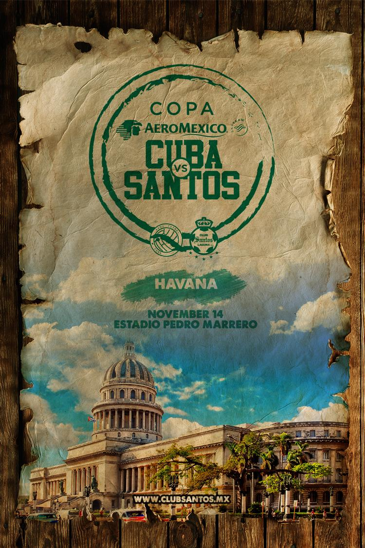 Santos to play Cuba's National Team in historic friendly