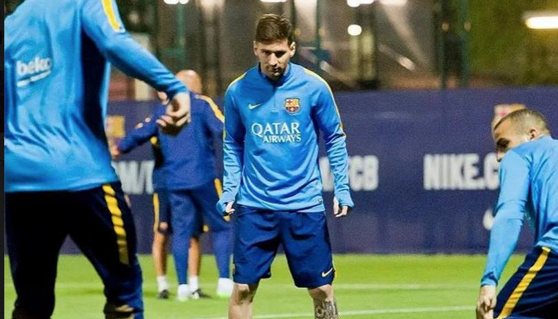 Messi returns to Barca training ahead of Real clash