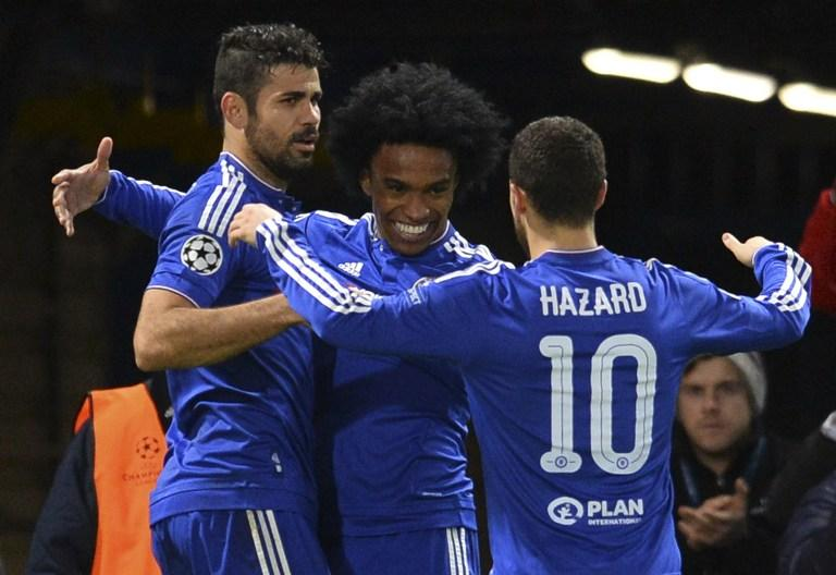 Chelsea win 0-2 over Porto, who were left out of the knockout round