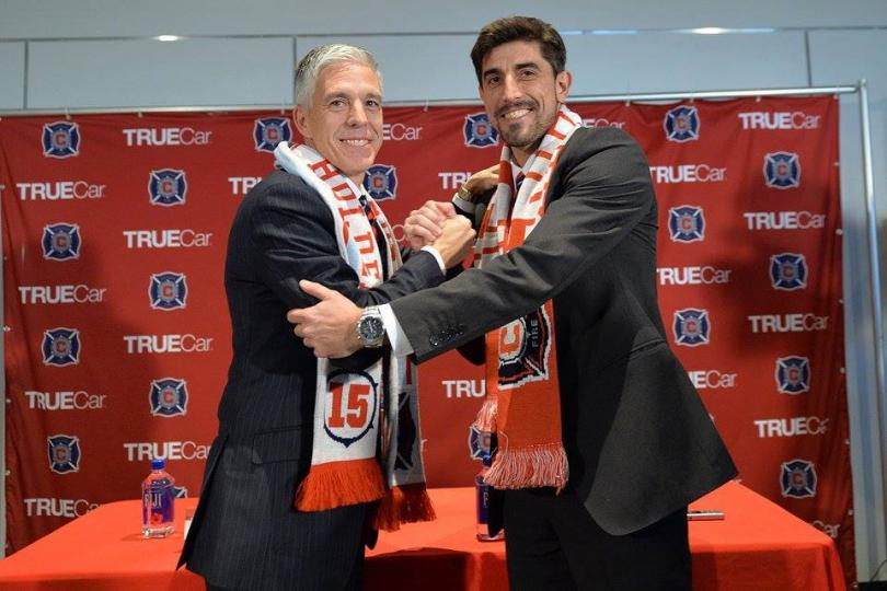 Velko Paunovic is presented as Chicago's new coach