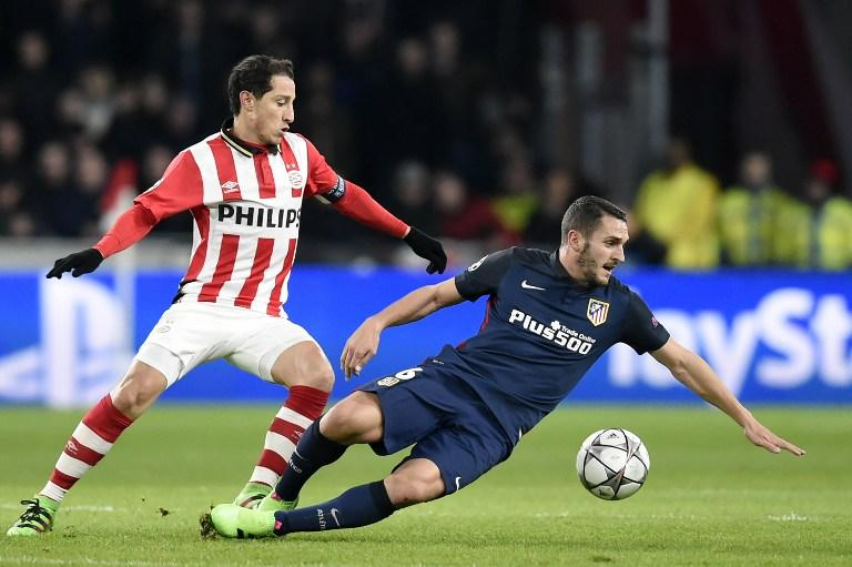 PSV vs Atletico Madrid, Champions League