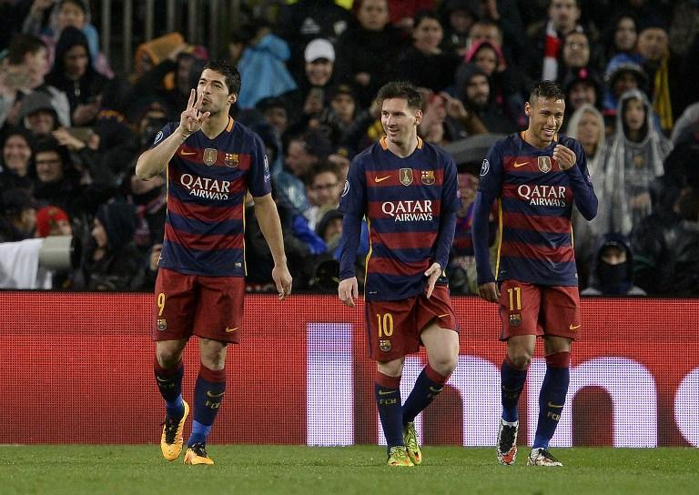 Luis Suarez, Lionel Messi & Neymar, from FC Barcelona
