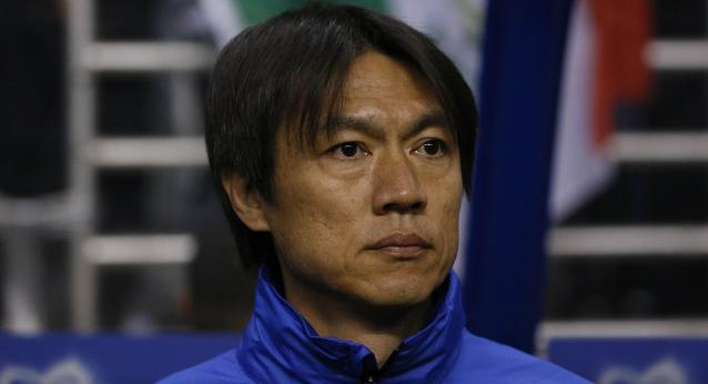 Jan 29, 2014; San Antonio, TX, USA; Korea Republic head coach Hong Myung-Bo before a friendly soccer game against Mexico during the first half in a friendly soccer match at Alamodome. Mandatory Credit: Soobum Im-USA TODAY Sports